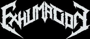 Exhumation Logo - white